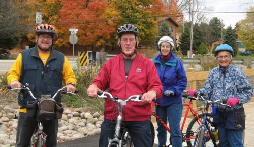 Area seniors take to the trail during a special biking event.