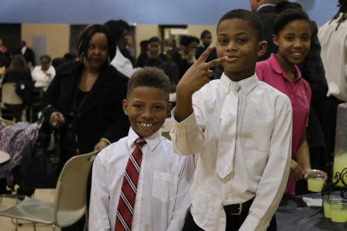 The new chapter of the Explorers is geared toward young men. Here are two of the charter members.